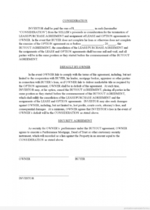 here the sample printable buyout agreement 2 form  printable real estate home buyout agreement template