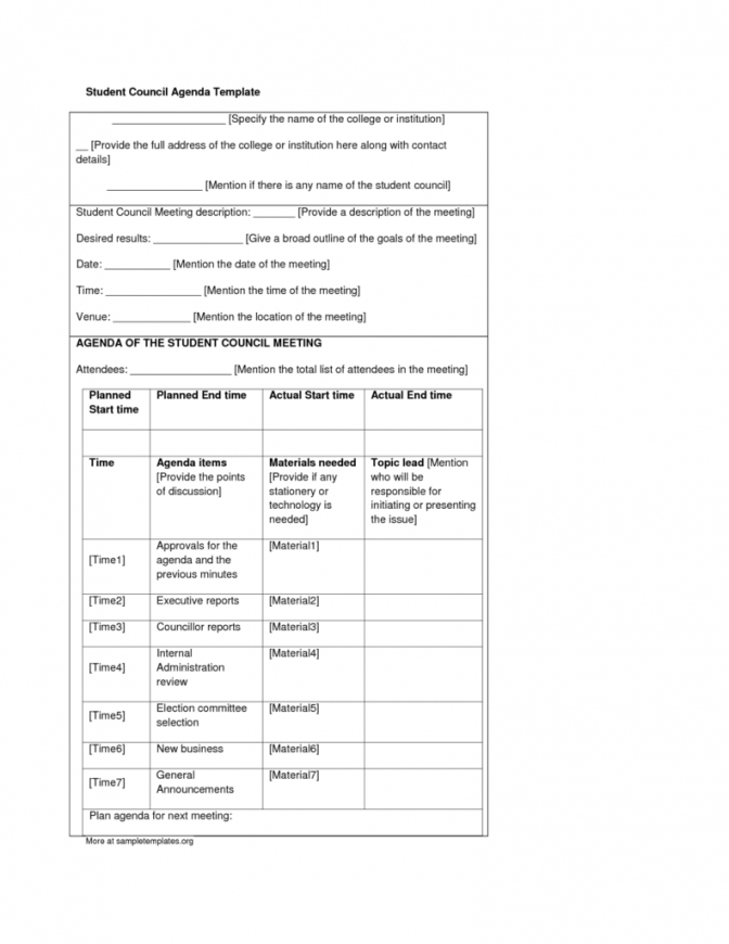 here the student council meeting minutes template  buramansiondelrioco student council contract template
