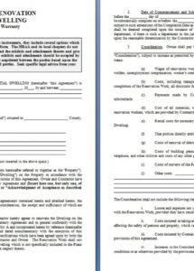 home repair contract template  contract agreements, formats to free home repair contract agreement