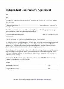 independent contractor agreement florida contract form pdf under law company truck driver contract agreement