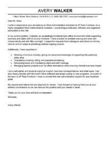 leading professional store administrative assistant cover letter administrative assistant cover letter template sample