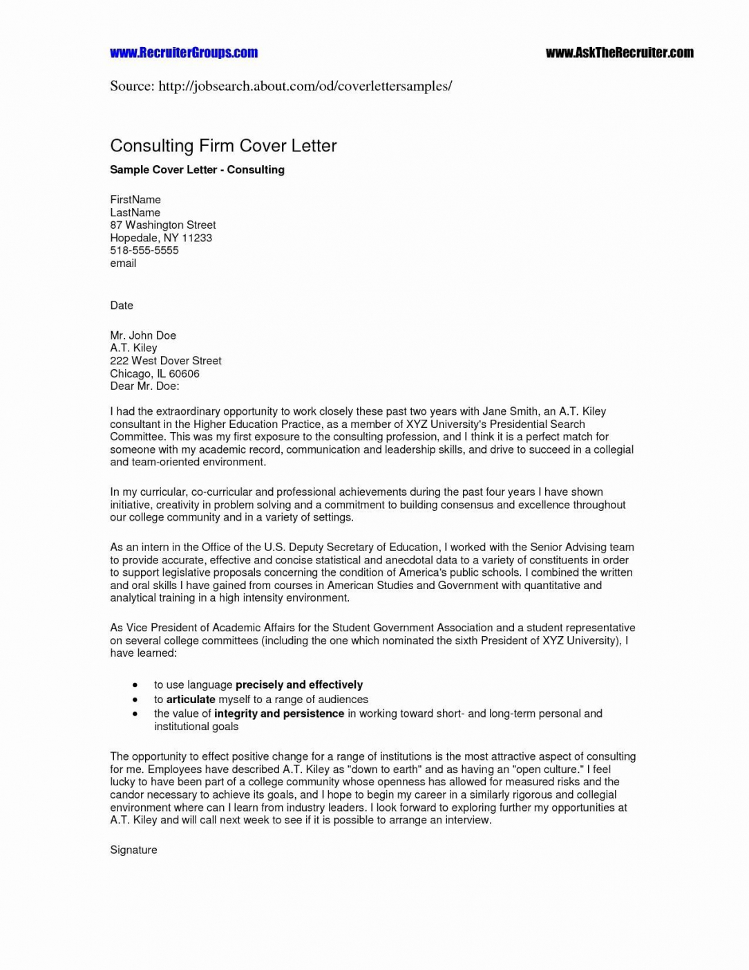 Letter Template For Job Enquiry New Case Manager Cover