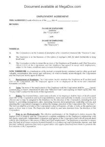 ontario employment agreement for ceo position  legal forms and ceo employment contract template