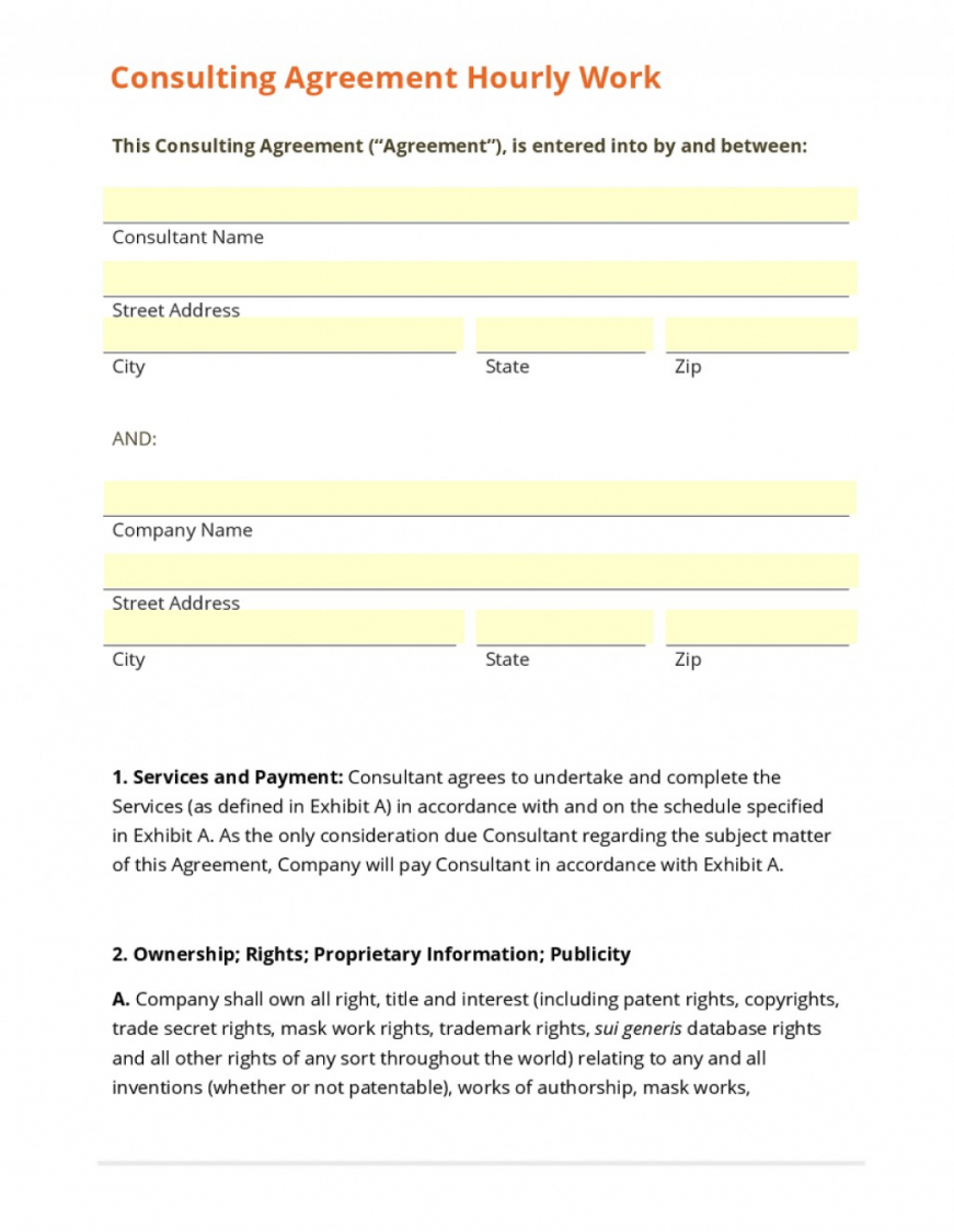 our 009 template ideas consulting contract time and materials hourly contract agreement