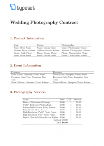 our contracts  wedding photography contract template template model photography contract template