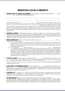 our free printable rental agreement forms in spanish  form : resume spanish rental agreement template