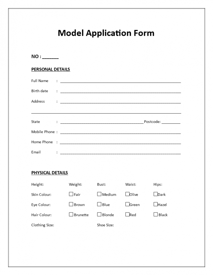 our model application form  download this model application form if you franchise registration form template