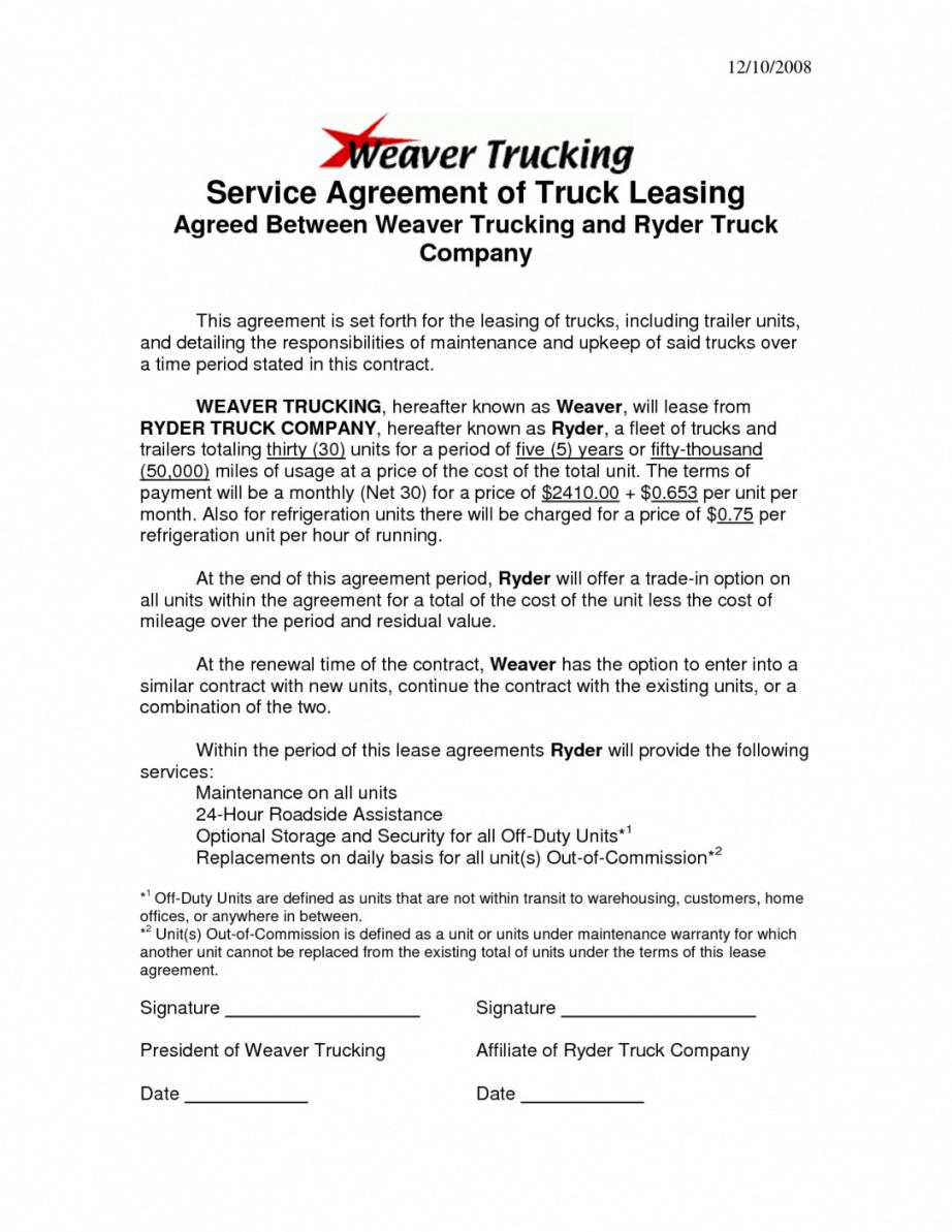 our truck driver contract agreement template template business truck company truck driver contract agreement