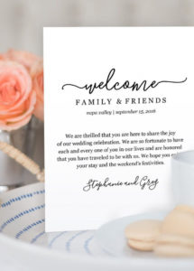 pin by amanda maywald on wedding  wedding welcome bags, wedding destination wedding welcome letter template