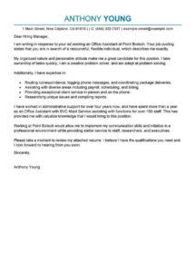 printable best office assistant cover letter examples  livecareer office assistant cover letter template sample