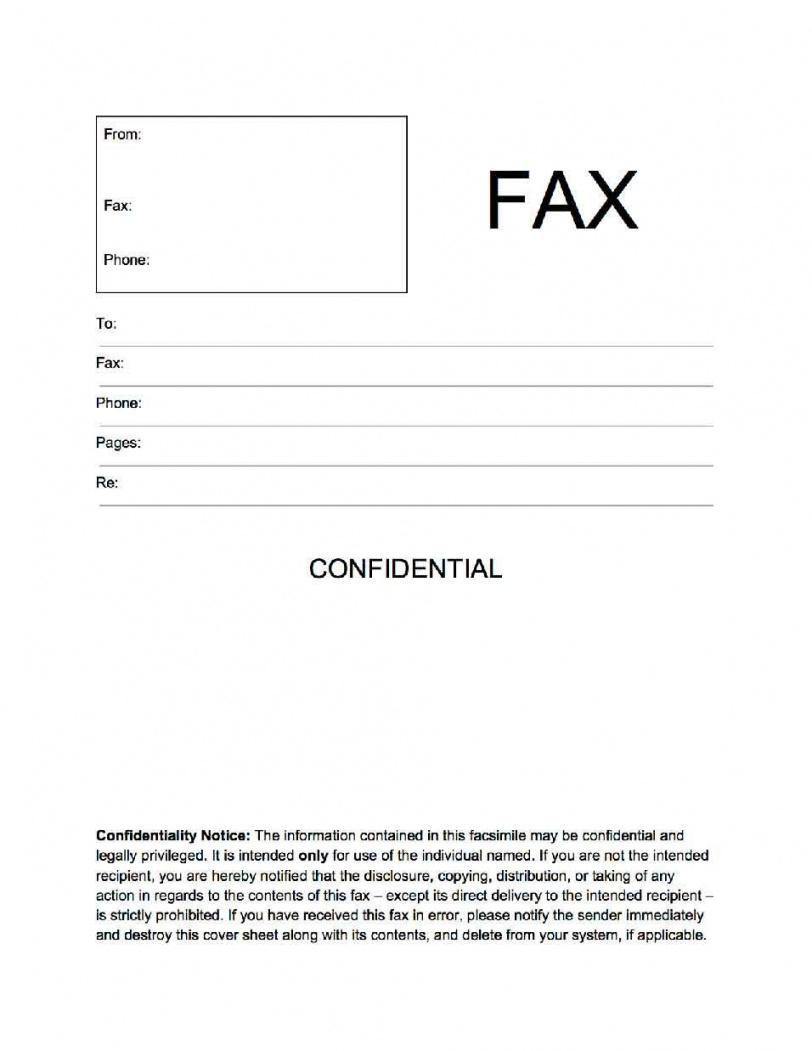 printable confidential fax cover sheet  popularfaxcoversheets  cover confidential cover letter template