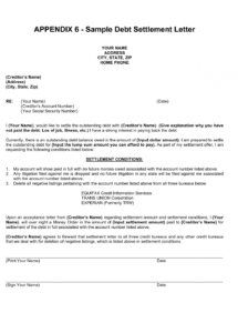 printable debt settlement letter paid in full sample offer template uk to debt settlement letter paid in full template