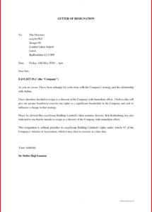 printable format ofignation letter auditor under companies act for auditor resignation letter template sample