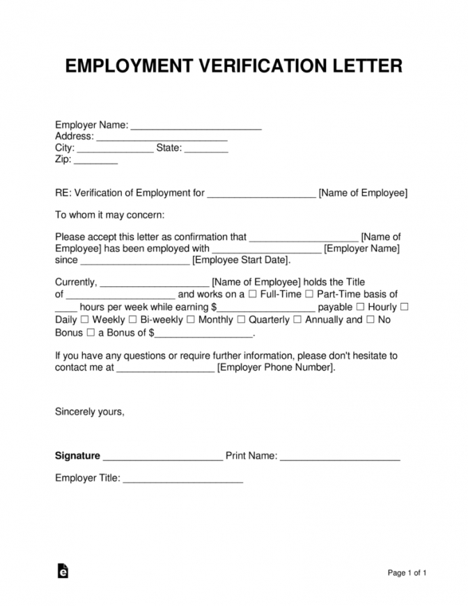 printable free employment (income) verification letter  pdf  word  eforms proof of income letter template sample