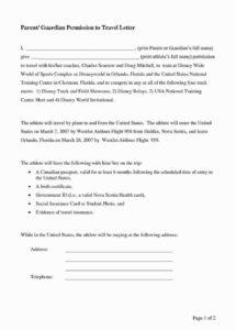 printable parental consent form template travel beautiful parental consent travel permission letter template sample