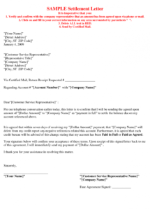 printable picture {5} of {17}  debt settlement agreement letter sample debt repayment letter template sample