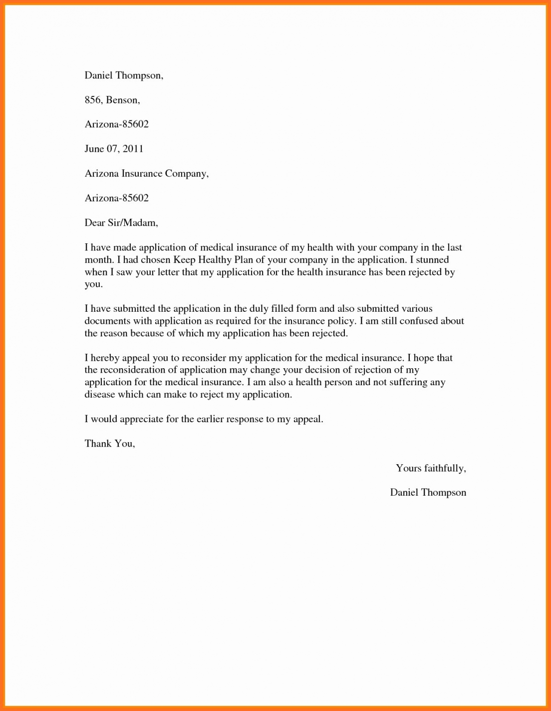 printable proof of health insurance letter template appeal format new sample proof of insurance letter template doc