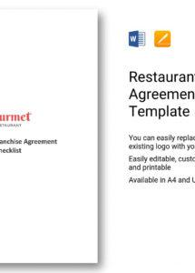 restaurant franchise agreement checklist template in word, apple pages franchise checklist template