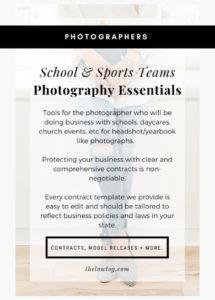 school & sports teams photography essentials  thelawtog® school photography contract template
