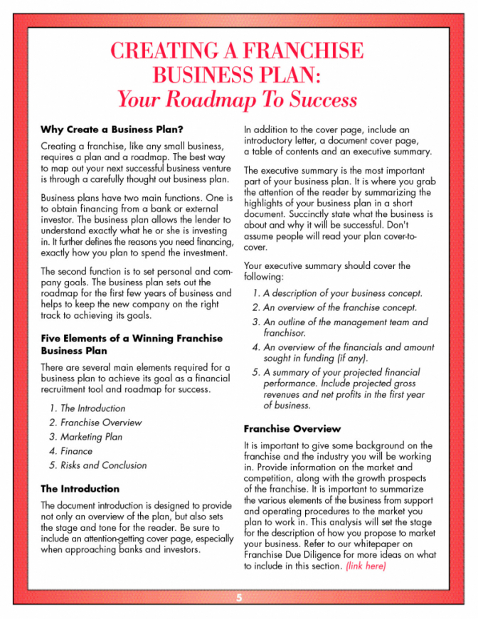 This Is The Business Plan Franchise Template Free Downloads