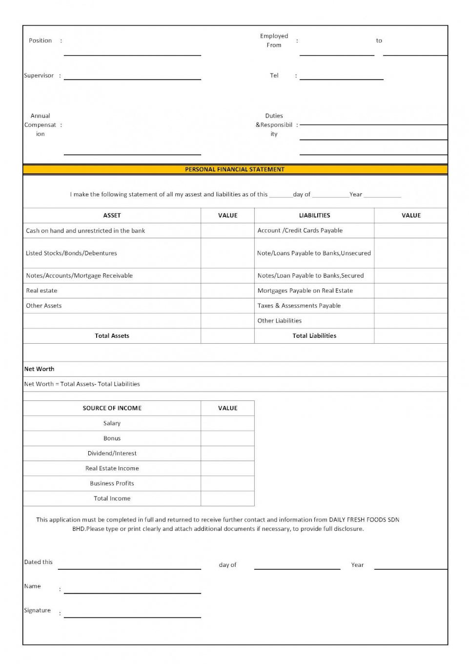 Franchise Registration Form Template