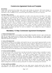 this is the free sales commission agreement  templates at commission sales contract template