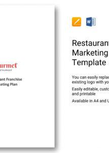 this is the restaurant franchise marketing plan template in word, apple pages franchise marketing plan template