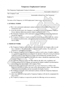 this is the sample temporary employment contract form template  projects to try temporary worker contract template