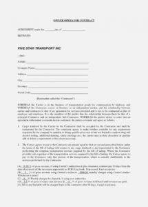 why you should not go to owner operator lease agreement sample form owner operator driver agreement