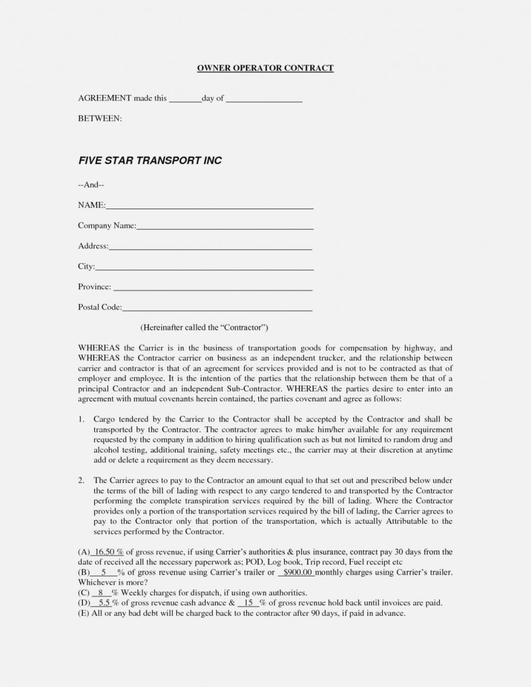 Why You Should Not Go To Owner Operator Lease Agreement