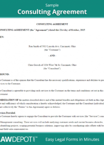 consulting agreement template (us)  lawdepot sample partnership agreement between two companies