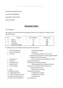 demand letter sample  gplusnick subrogation demand letter template pdf