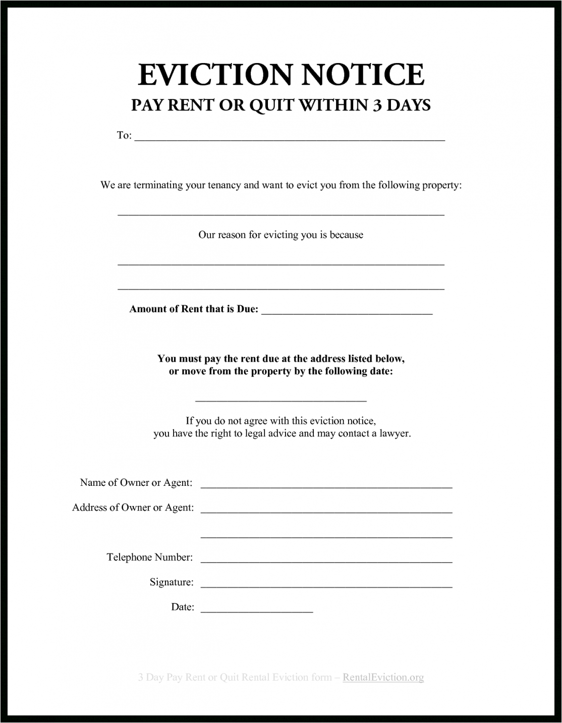 editable 30 day eviction notice template  btsmmo 30 day eviction letter template pdf
