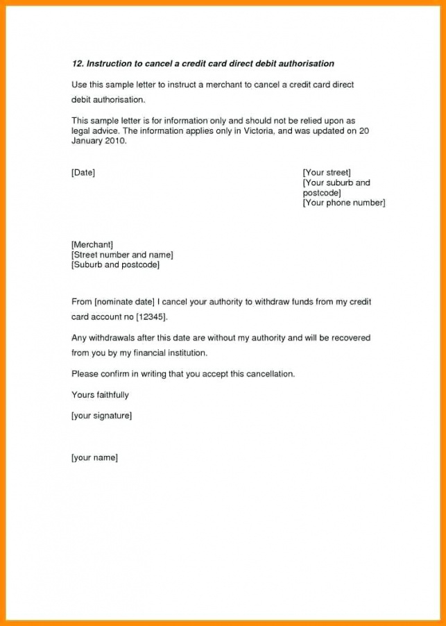 editable cancel gym membership letter format for credit card striking credit card cancellation letter template