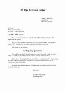 editable free tenant eviction letter template examples  letter template tenant eviction letter template pdf