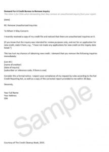 editable inquiry dispute letter great letter credit inquiry removal credit inquiry removal letter template sample
