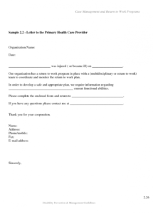 editable return to work note  seckinayodhyaco phased return to work letter template doc