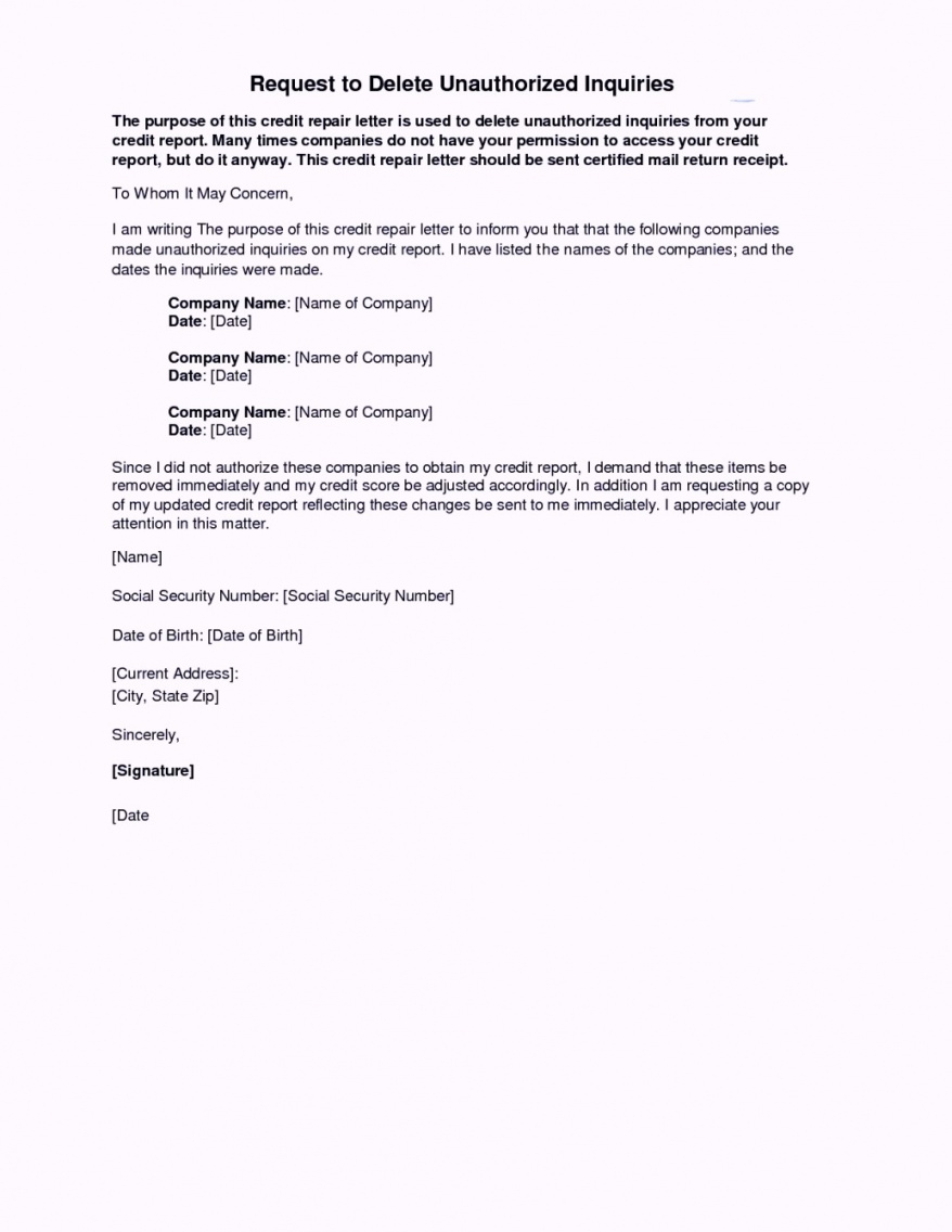 free 24 images of credit inquiries letter template  netpei credit inquiry removal letter template pdf