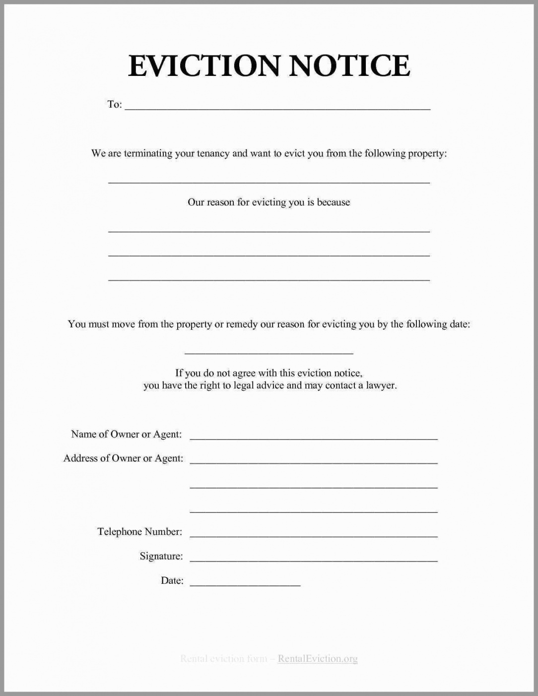 free 30 day eviction notice form template  mbm legal 30 day eviction letter template sample