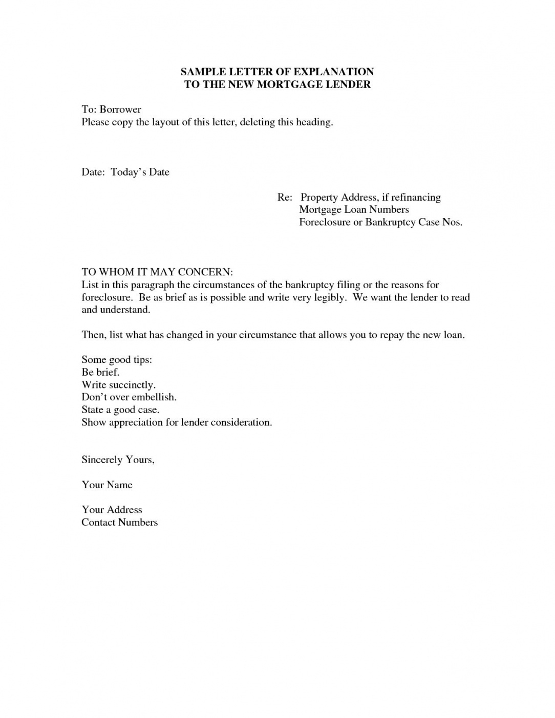 free foreclosure letter template examples  letter template collection foreclosure letter template