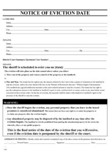 free free eviction notice template  printable eviction notice  leaave roommate eviction letter template pdf