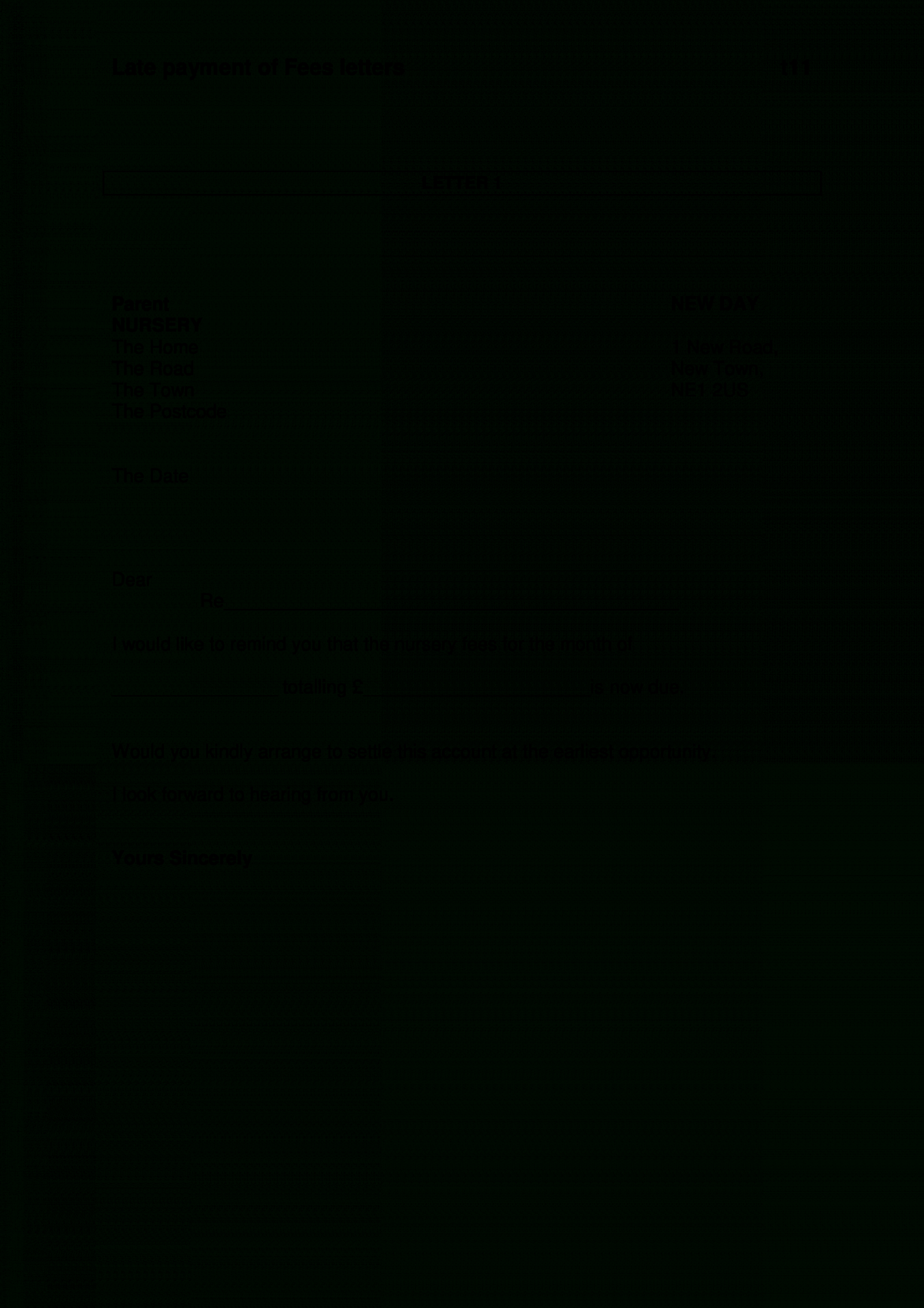 free free late payment letter  templates at allbusinesstemplates late payment letter template doc