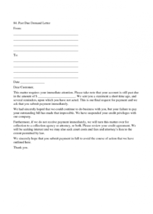 free past due letters  yokkubkireklamoweco past due rent demand letter template doc