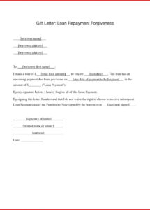free personal loan repayment letter template download loan repayment letter template doc