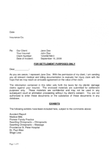 free sample demand letter for car accident  koranayodhyaco subrogation demand letter template