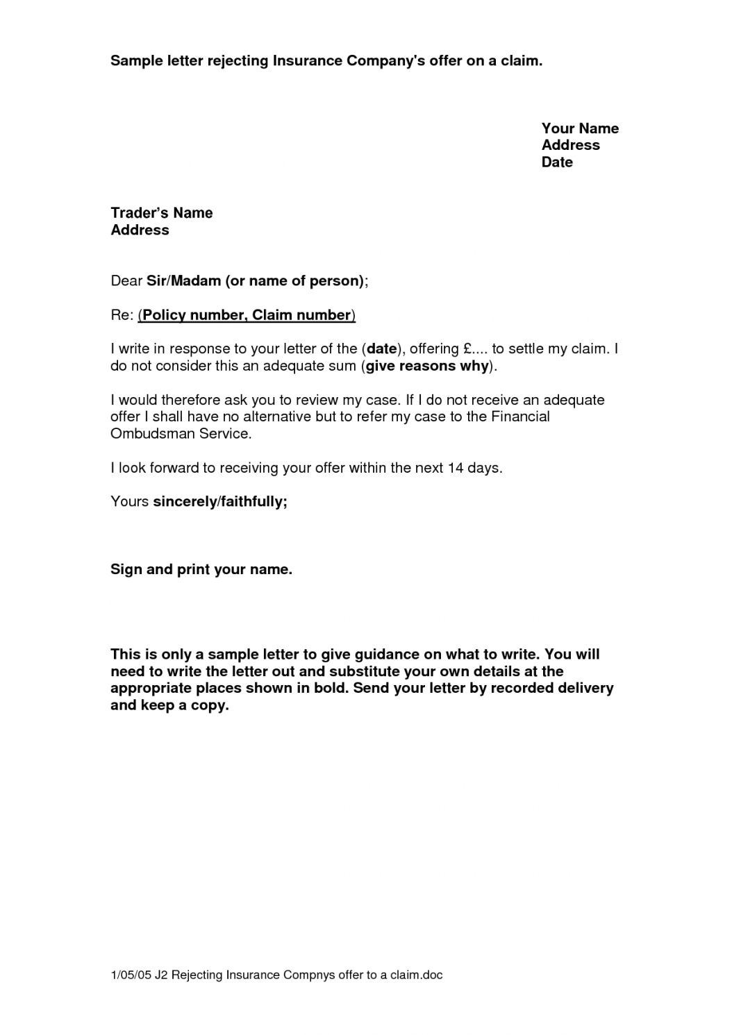 letter to insurance company for claim  koranayodhyaco subrogation demand letter template