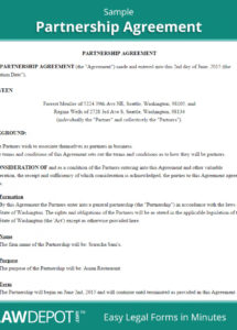 our legal partnership agreement  lofts at cherokee studios attorney partnership agreement sample
