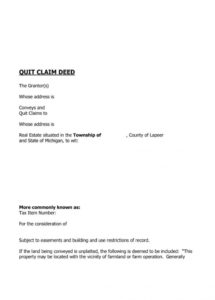 printable 46 free quit claim deed forms & templates ᐅ template lab quit claim letter template