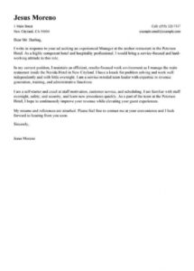 printable best hotel & hospitality cover letter examples  livecareer phased return to work letter template pdf