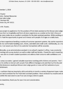 printable example of a cover letter for a summer hotel worker and writing tips walk letter for hotel template pdf